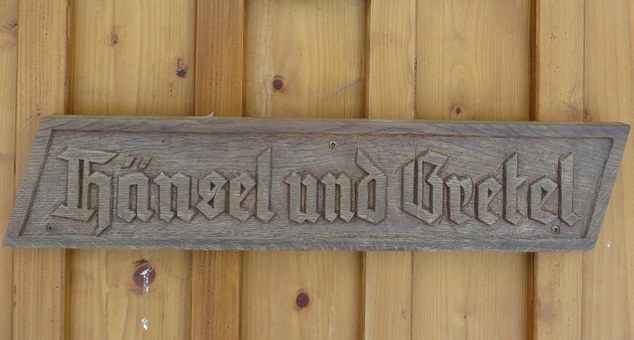 Wooden Sign, Fairy Tales, Hansel And Gretel
