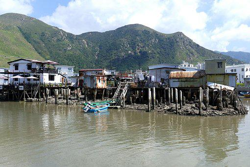 Hong Kong, China, Asia, Lantau, Tai O, Village