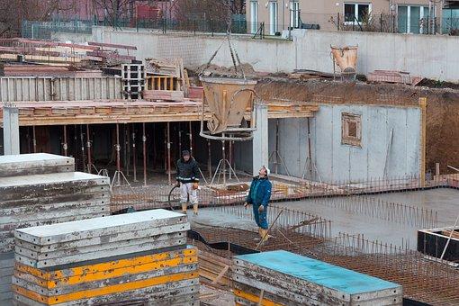 Site, Construction Workers, Reinforcement, Concrete