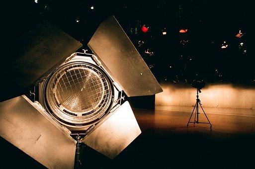 Studio, Equipment, Film, Light, Spotlight, Television