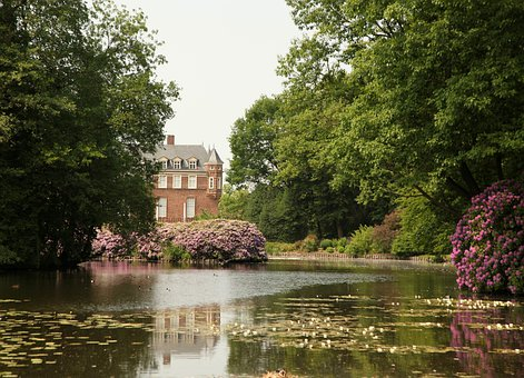 Moated Castle, Anholt, Towers, Places Of Interest