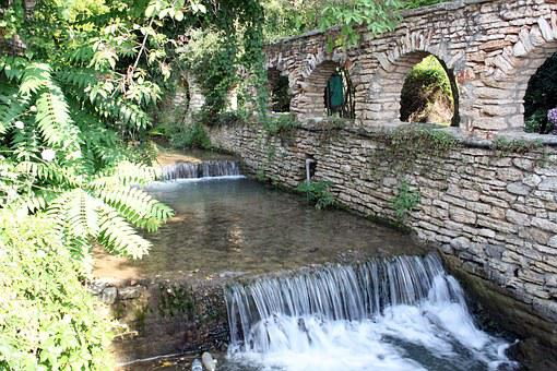 Balchik, Castle Queen Mary, Waterfall