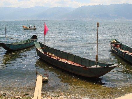 Lake Erhi, Lake, Skiff, Boat, Fishing, Tranquil, Water