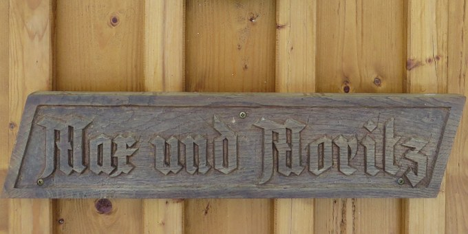 Wooden Sign, Fairy Tales, Max And Moritz