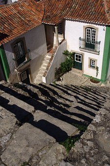 Portugal, óbidos, Stairs, Historically