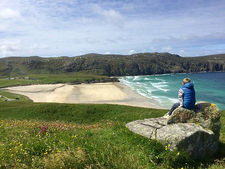 Beach, Island, Hebrides, Scotland