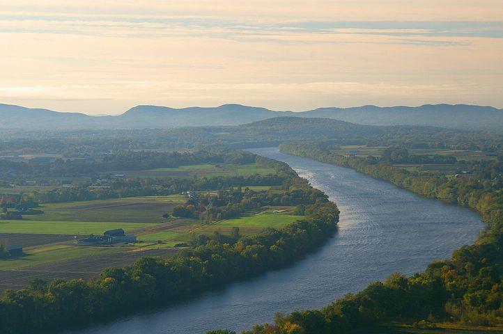 Connecticut, River, Mt, Sugarloaf, Landscape, Scenery