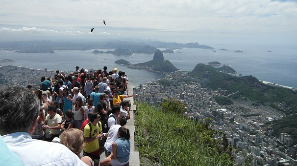 Tourists, Viewpoint, Sugarloaf, Rio De Janeiro, Rio