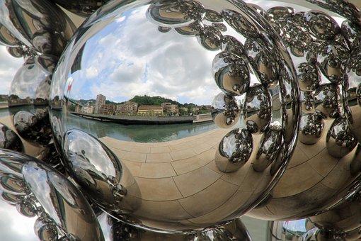 Balls, Steel Furniture, Demnkmal, Mirroring, Reflection