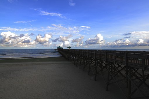 Pier, Folly, Dock, Beach, Sea, Shore, Coast, Sky