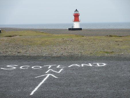 The Lighthouse, Coast, Sea, The Isle Of Man, Scotland