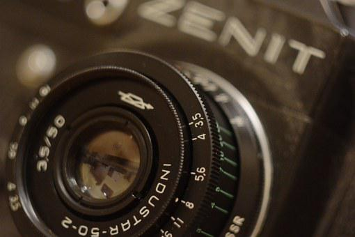Zenith, Camera, Soviet, Industar, Lens, Retro
