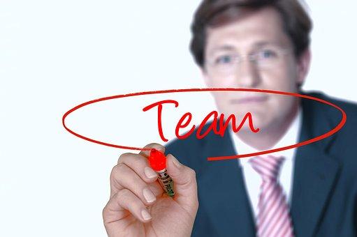 Businessman, Team, Hand, Leave, Glass, Transparent