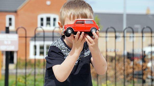 Model, Car, Mini Cooper, Red, Vehicle, Colourful