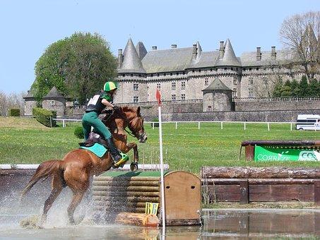 Horseback Riding, Horse, Eventing, Cross, Castle