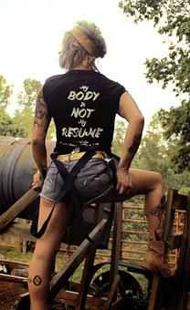 Tattoo, Tattooed, Girl, White, People, Model, Farm