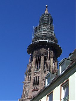 Tower, Münster Tower, Freiburg, Integrated, Church, Sky