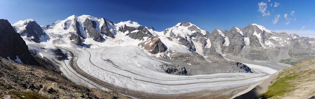 Bernina-panorama, Rhätikon, Graubünden, Switzerland