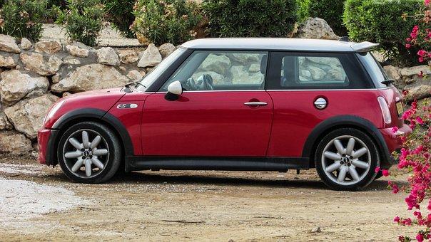 Car, Red, Mini Cooper, Vehicle, Automobile
