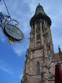 Freiburg, Münster, Steeple, Münster Tower, Renovation