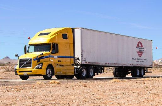 Truck, Semi Truck, Semi-truck, Desert, New Mexico