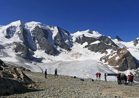 Bernina, Diavolezza, Piz Palu, Mountain Hiking