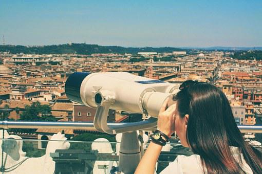 Viewpoint, Spyglass Hill, Rome, Panorama, City, Roofs