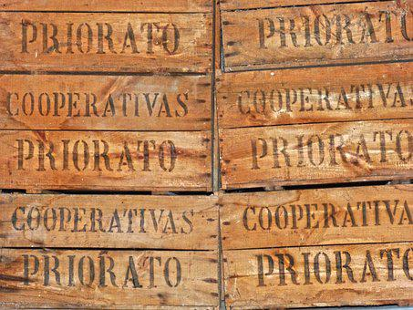 Boxes, Wooden Boxes, Packing, Priorat, Cooperative, Old