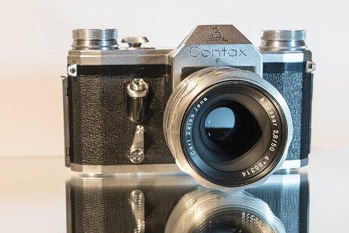 Contax F, Old, Photo, Camera, Lens, Retro, Film