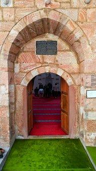 Turkey, Ankara, Beypazari, Cami, Door, Green