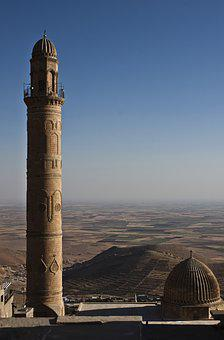 Great Mosque, Mardin, Cami, On, Mesopotamia, Valley
