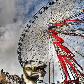 Manege, Ferris Wheel, Lille, Christmas