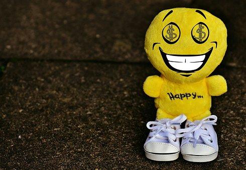 Smiley, Dollar, Greedy, Sneakers, Funny, Emoticon