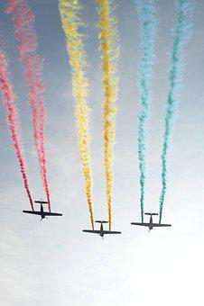 Airplane, Show, Parade, Plane, Air, Aircraft, Flight