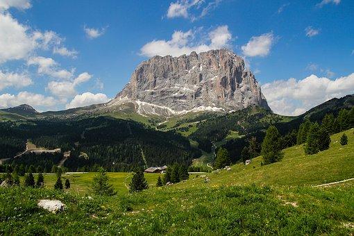 Landscape, Italy, Dolomite, Dolomites, Nature, Cloud