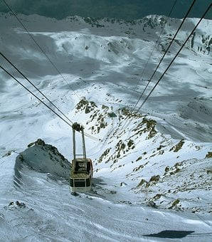 Cable Car, Winter, Gondola, Mountains, Alpine, Skiing