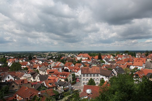 Bensheim-auerbach, Town, Hessen, Germany, View