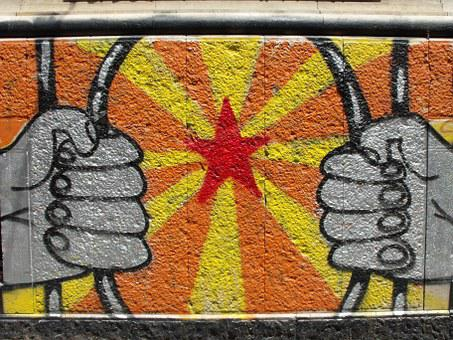 Murals, Marxist, Naples, Via Mezzocannone, Anarchists