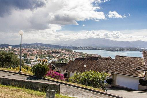 New Caledonia, Tropical, Homes, Island, Hill Top