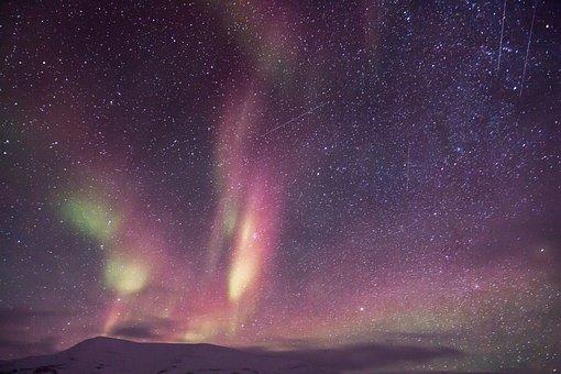 Aurora, Auroras, Northen Light, Scooter, Snow