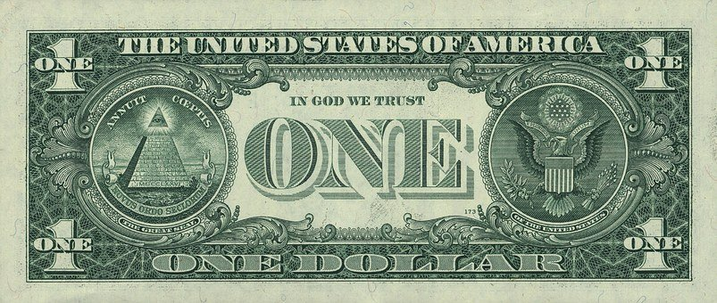 Dollar, Banknote, United States, January 1 Dollar