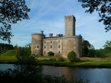 Castle, Moat, Water, Tower, Pierre, Medieval, History