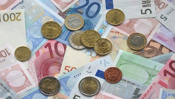 Euro, Bank Notes, Coins, European Currency, Business