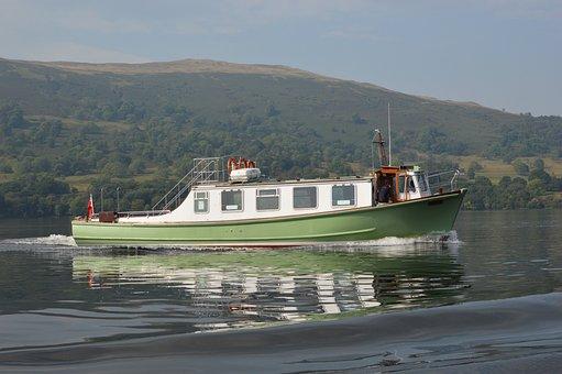 Lakes, Steamer, Lake District, Boat