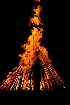 Man, Human, Fire, Running Away, Go, Too Hot, Person