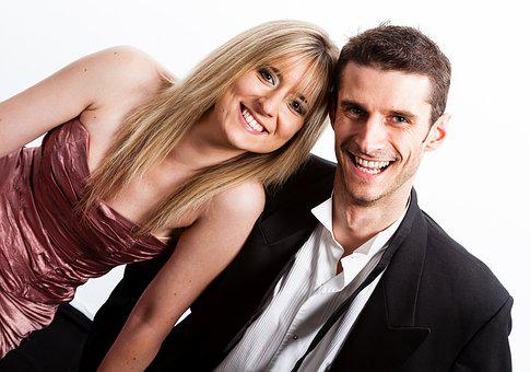 Couple, Smiling, Formal, Black Tie, Woman, Man