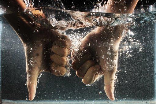 Hand, Water, Dislike, Wet, Splash