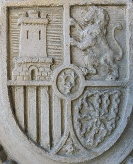 Coat Of Arms, Spain, Stone, Granite Stones