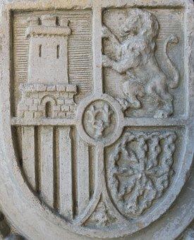 Coat Of Arms, Spain, Stone, Granite Stones