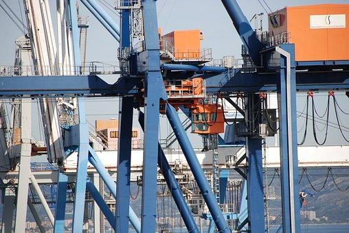Crane, Maritime Transport, Port Of Castellón